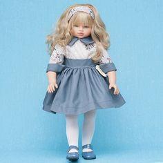 Кукла Эли в синем платье, 60 см.