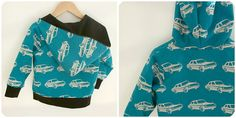 handmade hoodie (via piccoli piselli - echino fabric)