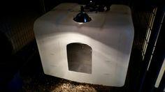 Whelping box made of IBC tank