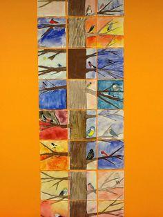 Koko luokan yhteinen lintupuu Crafts For Boys, Art For Kids, Arts And Crafts, Collaborative Art Projects, Nature Journal, 3 Arts, Art Activities, Teaching Art, Elementary Art