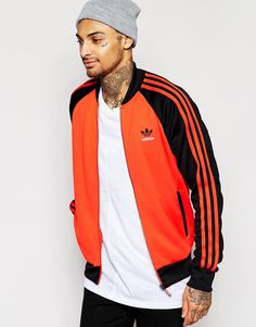 Buy adidas Originals Superstar Track Jacket at ASOS. With free delivery and return options (Ts&Cs apply), online shopping has never been so easy. Get the latest trends with ASOS now. Adidas Originals, Sports Tracksuits, Sweatpants Style, Superstar, Adidas Outfit, Sweater Hoodie, Sport Outfits, Jackets For Women, Women's Jackets