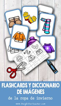 The Glitter Teacher: flash cards Body Preschool, Preschool Weather, Preschool Lessons, Preschool Activities, English Classroom Activities, Printable Activities For Kids, Spanish Lessons, Learning Spanish, Kids Learning