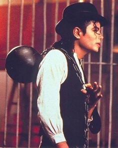 Michael Jackson in Leave me alone.