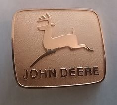 John Deere Gold Tone Belt Buckle Farming Crops Tractor #johndeere
