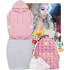 . by eirinimaria on Polyvore featuring polyvore, fashion, style, Annie Greenabelle, adidas and clothing