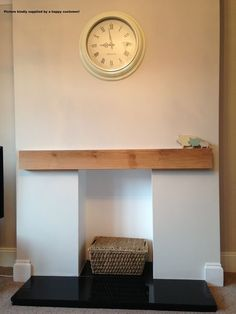 Details about Solid French Oak Beams Floating Shelf Mantle Piece ...