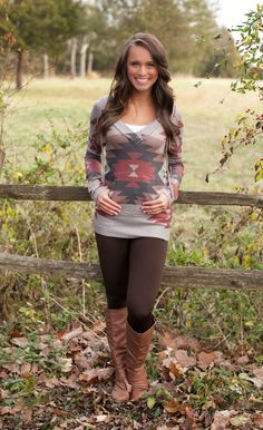 The Pink Lily Boutique - Fireside Aztec Hoodie Mocha, $40.00 (http://thepinklilyboutique.com/fireside-aztec-hoodie-mocha/)
