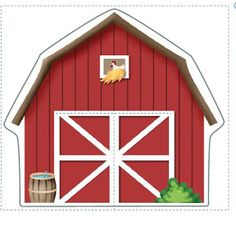 farm cut out- can be turned into a magnet activities Farm Animal Birthday, Farm Birthday, Birthday Parties, Barnyard Party, Farm Party, Diy And Crafts, Crafts For Kids, Barn Parties, Cowboy Party