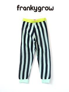 BABY & KIDS & MOMMY Kiiroiki import clothes childrens clothing - Franky grow Frankie glow stripe cotton knit leggings mint x Black 2013SS