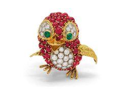 weekend jewelry bichos Broche Pássaro em Ruby, esmeralda e Diamantes by Patek Philippe (1971) - See more at: http://blogdaprincess.com.br/tag/+grand+palais#sthash.zIHFQOoD.dpuf