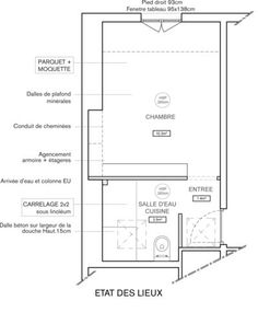Paris Alcove Studio apartment - apartment layout (PA-3121 ...