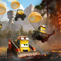 Meet the Smokejumpers: Dynamite, Pinecone, Avalanche, Blackout and Drip. They are a fearless team ready to fight any fire that comes their way.