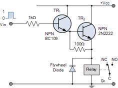 Emitter Darlington Relay Switch Circuit