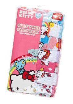 Hello Kitty  7-Pack Assorted Panties Girls 4-8