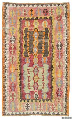 KONYA tribal kilim.  Handwoven, mid-20th century.