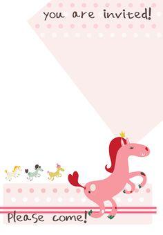 Free Printable Birthday Pony Invitation