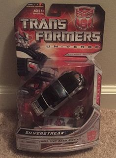 Transformers Year 2008 Universe Classic Series Deluxe Class 6 Inch Tall Robot Action Figure  Autobot SILVERSTREAK with Volt Beam Blaster Vehicle Mode Sports Car ** Check out the image by visiting the link.Note:It is affiliate link to Amazon.