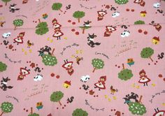 Cotton Linen Little red Riding Hood 50 cm by 106 by beautifulwork