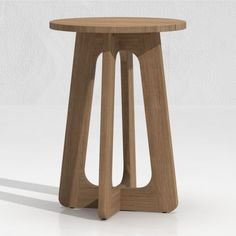 On its own, the table tucks neatly next to a lounge chair. Paired with its tall counterpart, the table nests to host drinks and snacks on two levels. Outdoor Furniture Design, Unique Furniture, Custom Furniture, Palm Spring Condo, Woodworking Garage, Woodworking Projects, Plywood Table, Cnc Cutting Design, Tall Table