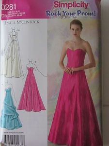 prom dress patterns simplicity | Sewing | Pinterest | Prom dresses ...