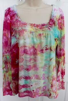 Ice dyed thrift shirt