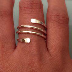 Sterling Silver Earrings Sterling Silver Swirl Ring Swirl ring by EllynBlueJewelry on Etsy - Wire Jewelry, Sterling Silver Jewelry, Jewelry Rings, Silver Earrings, Handmade Silver Jewelry, Silver Bracelets, Stud Earrings, Bullet Jewelry, Swarovski Jewelry