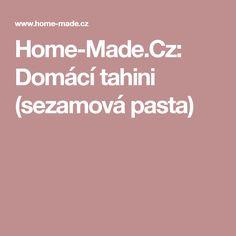 Home-Made. Tahini, Pasta, Homemade, Home Made, Hand Made, Pasta Recipes, Pasta Dishes