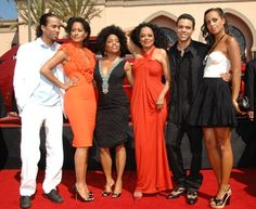 Diana Ross and her five children (from left) - Ross, Tracee, Rhonda, Evan, and Chudney.