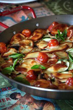 Voilà une délicieuse manière de cuisiner la polenta. Une fois cuite et étalée elle peut remplacer une pâte à pizza ou une pâte à tarte. Il faudra faire attention à ne pas trop mettre d'éléments liquides sur le dessus pour pouvoir la couper en parts qui...