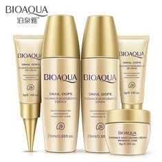 5pcs Skin Care Set BIOAQUA Whitening Moisturizing Essence Lotion Eye Cream BB Creams Facial Acid Liquid Anti Wrinkle Day Cream