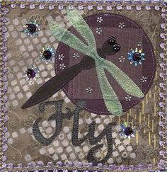 Lauren Vlcek fabric art journal page