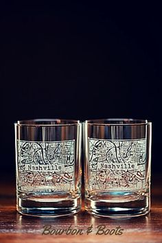 College Town Whiskey and Bourbon Glasses. These are so sweet. Great gift idea, and perfect for tailgates and parties. Available in most popular College Towns. From Bourbon & Boots.   (affiliate link) http://buythiscookthat.com/bourbon  #whiskey #cocktails #nashville #musthave