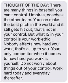 Baseball thought of the day!