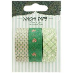 Natural Green Washi Tapes