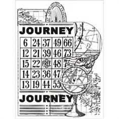 """Kaisercraft - Vintage Journey - Clear Stamps 3""""X5"""""""