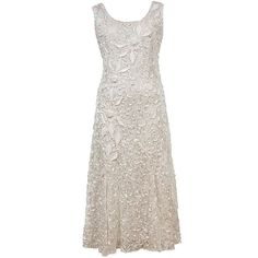 BuyChesca Lace Cornelli Embroidered Dress, Ivory, 10 Online at johnlewis.com