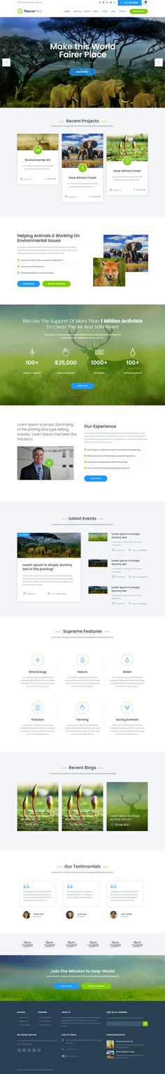 RescuePress is a fully responsive and customizable WordPress theme specifically designed for those who works for wild life community. we build this theme for company or members works in wild life and zoo or all the thing about travel with animal, Built with a clean and modern design, this theme can be easily customized as per your needs.