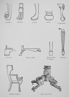 An in-depth guide to motifs on antique furniture feet and brass hardware