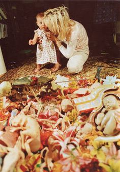 Courtney, Frances and the In Utero collage