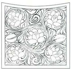 Leather Stamps, Leather Art, Leather Design, Leather Tooling Patterns, Leather Pattern, Leather Carving, Leather Projects, Picture Design, Designs To Draw