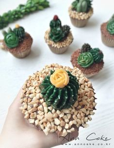 Mini cakes goat-zucchini and ricotta-spinach - Clean Eating Snacks Cactus Cupcakes, Succulent Cupcakes, Cactus Cake, Cold Cake, Buttercream Flower Cake, Savoury Cake, Mini Cakes, Cupcake Cookies, Clean Eating Snacks