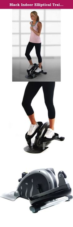 Black Indoor Elliptical Trainer Machine Sports Fitness Exercise Cardio Workout Training Home Gym Stepper Machine Aerobic Climber Adjustable Tension Workout Intensity Electronic Fitness Monitor Display. Adjustable tension to control workout intensity level The foot pedals can be worked in a forward or reverse direction to target your lower body in different ways Electronic fitness monitor displays number of strides per minute, total number of strides, exercise time, and calories burned or...