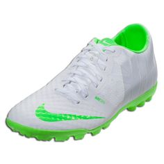 Nike FC247 Bomba Finale II  - White/Black/Electric Green- Reflective Pack  Turf Soccer Shoes