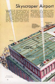 Skyscraper Airport for City of Tomorrow (Nov, 1939)