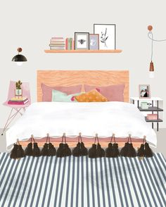 Interior Illustration - Bright Idea - Home, Room, Furniture and Garden Design Ideas Brain Illustration, Digital Illustration, Graphic Illustration, Room Photo, Room Posters, Poster S, Aesthetic Art, Graphic Design Inspiration, Cute Drawings