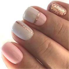 Nail Art Summer 2019 - Pretty Nail Art Designs For Summer 2017 Simple Gel Nails, Summer Gel Nails, Winter Nails, Jolie Nail Art, Gel Nail Art Designs, Nail Designs For Fall, Dipped Nails, Pretty Nail Art, Gorgeous Nails