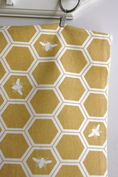 Organic Honeycomb in Sun in Home Decor Canvas - The Grove Collection - ONE HALF YARD Cut on Etsy, $8.00