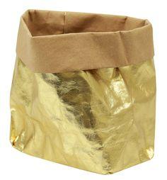 Die #PaperBag von #Uashmama in Gold Größe M  - Gefunden auf #KONTOR1710