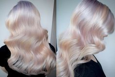"""Softer, delicate colors will dominate 2018 hair trends, and the first look taking the internet by storm is """"Hollywood opal. Blonde Hair With Pink Highlights, Pink Blonde Hair, Work Hairstyles, Pretty Hairstyles, Red Hair Tips, Color Fantasia, Opal Hair, Hollywood, Hair Dye Colors"""