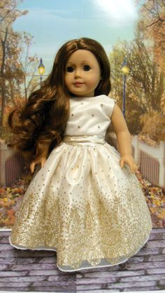 RESERVED American girl doll clothes Golden Dreams by TheDollyDama